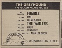 Fumble, Greyhound, May 1973