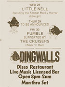 FUMBLE, Dingwalls 1974