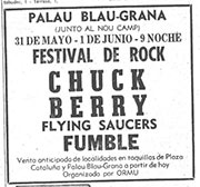 Fumble, Chuck Berry, Spain 1977