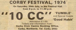 Fumble, Corby Festival 1974
