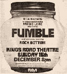 Advert Fumble, Kings Road Theatre