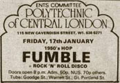 Advert Fumble, London Poly