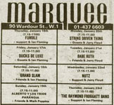 Advert Marquee 1974