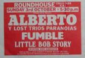 Advert Fumble, London Roundhouse 1976