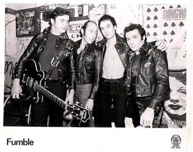 Fumble promo photo Dingwalls 1979